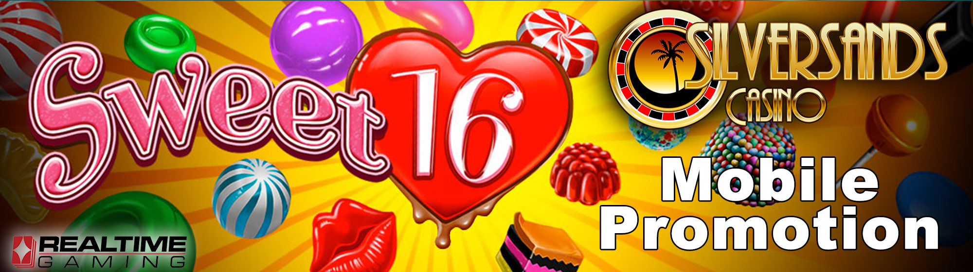 Sweet 16 Mobile Free Spins Promotion